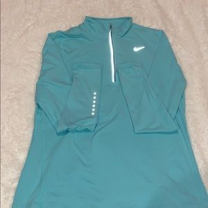 Mint Nike Running Quarter Zip
